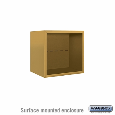 Salsbury 3804S-GLD Surface Mounted Enclosure - for 3704 Single Column Unit - Gold