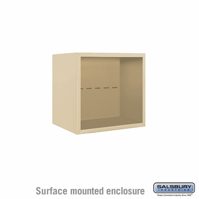 Salsbury 3804S-SAN Surface Mounted Enclosure - for 3704 Single Column Unit - Sandstone