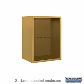 Salsbury 3806S-GLD Surface Mounted Enclosure - for 3706 Single Column Unit - Gold