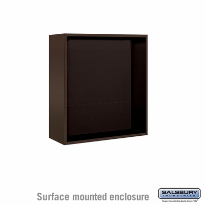 Salsbury 3808D-BRZ Surface Mounted Enclosure - for 3708 Double Column Unit - Bronze