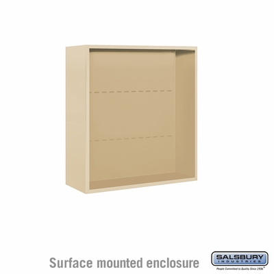 Salsbury 3808D-SAN Surface Mounted Enclosure - for 3708 Double Column Unit - Sandstone