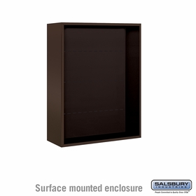 Salsbury 3810D-BRZ Surface Mounted Enclosure - for 3710 Double Column Unit - Bronze