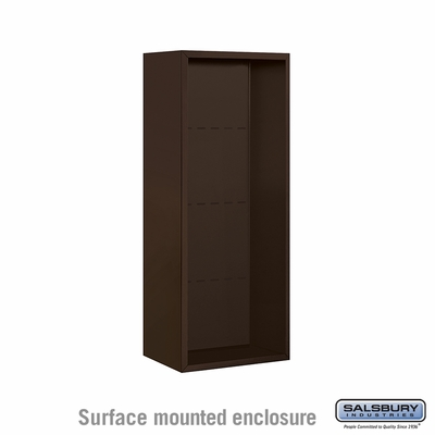 Salsbury 3810S-BRZ Surface Mounted Enclosure - for 3710 Single Column Unit - Bronze