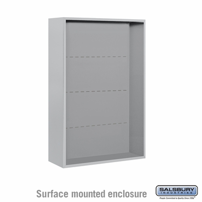 Salsbury 3812D-ALM Surface Mounted Enclosure - for 3712 Double Column Unit - Aluminum