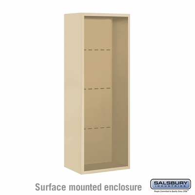 Salsbury 3812S-SAN Surface Mounted Enclosure - for 3712 Single Column Unit - Sandstone