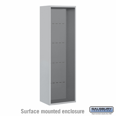 Salsbury 3814S-ALM Surface Mounted Enclosure - for 3714 Single Column Unit - Aluminum