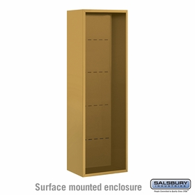 Salsbury 3814S-GLD Surface Mounted Enclosure - for 3714 Single Column Unit - Gold