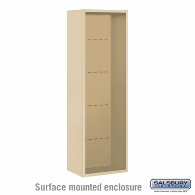 Salsbury 3814S-SAN Surface Mounted Enclosure - for 3714 Single Column Unit - Sandstone