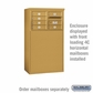 Salsbury 3904D-GLD Free-Standing Enclosure - for 3704 Double Column Unit - Gold