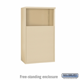 Salsbury 3904D-SAN Free-Standing Enclosure - for 3704 Double Column Unit - Sandstone