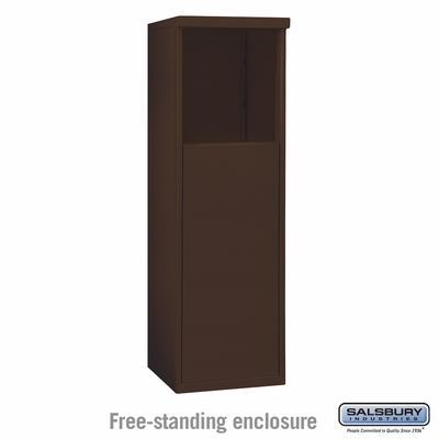 Salsbury 3904S-BRZ Free-Standing Enclosure - for 3704 Single Column Unit - Bronze
