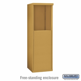 Salsbury 3905S-GLD Free-Standing Enclosure - for 3705 Single Column Unit - Gold