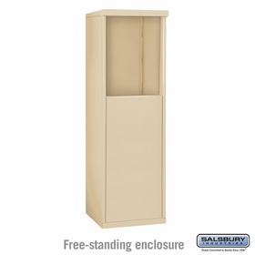 Salsbury 3905S-SAN Free-Standing Enclosure - for 3705 Single Column Unit - Sandstone