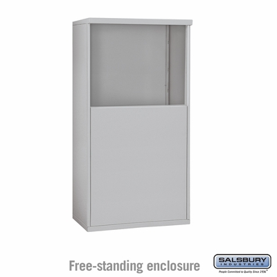 Salsbury 3906D-ALM Free-Standing Enclosure - for 3706 Double Column Unit - Aluminum