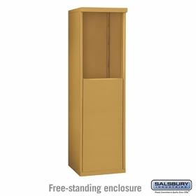 Salsbury 3906S-GLD Free-Standing Enclosure - for 3706 Single Column Unit - Gold
