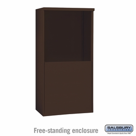 Salsbury 3908D-BRZ Free-Standing Enclosure - for 3708 Double Column Unit - Bronze