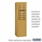 Salsbury 3908S-GLD Free-Standing Enclosure - for 3708 Single Column Unit - Gold