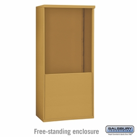 Salsbury 3910D-GLD Free-Standing Enclosure - for 3710 Double Column Unit - Gold