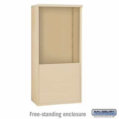 Salsbury 3910D-SAN Free-Standing Enclosure - for 3710 Double Column Unit - Sandstone