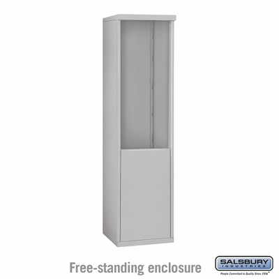 Salsbury 3910S-ALM Free-Standing Enclosure - for 3710 Single Column Unit - Aluminum