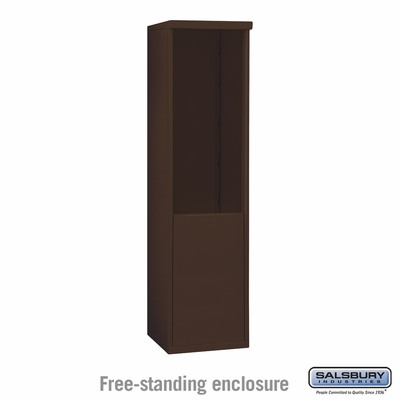 Salsbury 3910S-BRZ Free-Standing Enclosure - for 3710 Single Column Unit - Bronze
