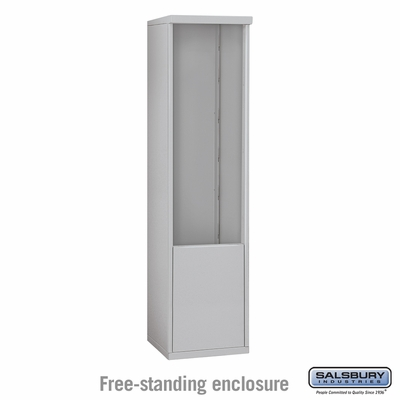 Salsbury 3912S-ALM Free-Standing Enclosure - for 3712 Single Column Unit - Aluminum