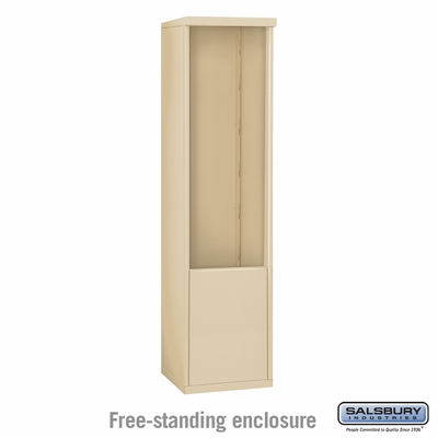 Salsbury 3912S-SAN Free-Standing Enclosure - for 3712 Single Column Unit - Sandstone