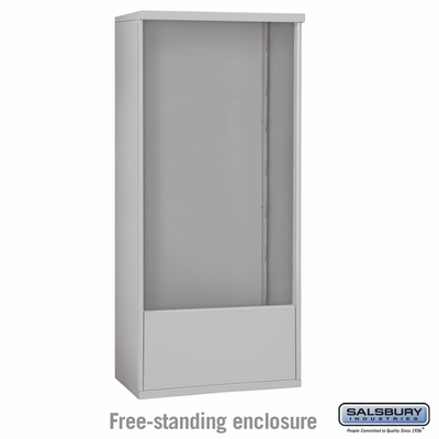 Salsbury 3914D-ALM Free-Standing Enclosure - for 3714 Double Column Unit - Aluminum