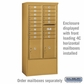 Salsbury 3914D-GLD Free-Standing Enclosure - for 3714 Double Column Unit - Gold