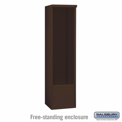Salsbury 3914S-BRZ Free-Standing Enclosure - for 3714 Single Column Unit - Bronze