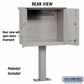 Salsbury 4276GRY Pedestal Drop Box Large Gray (Includes Pedestal)