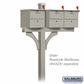 Salsbury 4373D-NIC Deluxe In-Ground Post for (3) Designer Roadside Mailboxes - Nickel