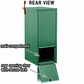 Salsbury 4375GRN Mail Package Drop Front And Rear Access Green