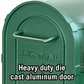Salsbury 4850GRN Heavy Duty Rural Mailbox Green