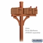 Salsbury 4873COP Deluxe Mailbox Post - 2 Sided for (3) Mailboxes - In-Ground - Copper