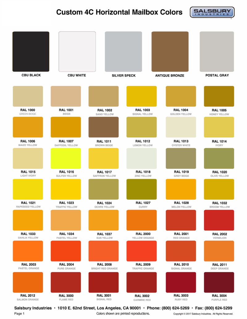 Salsbury Industries | 4905 Custom Color For Courier Boxes ...