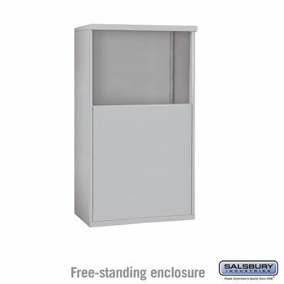 Salsbury Free-Standing Enclosure for 3705 Double Column Unit - Aluminum