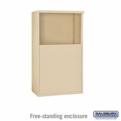 Salsbury Free-Standing Enclosure for 3705 Double Column Unit - Sandstone