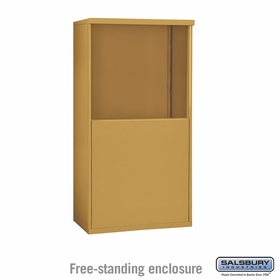 Salsbury 3907D-GLD Salsbury Free-Standing Enclosure - for 3707 Double Column Unit - Gold