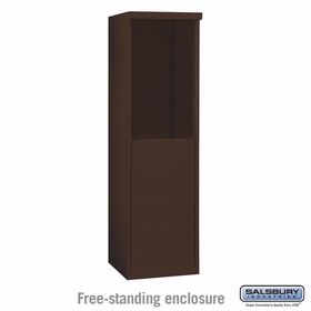 Salsbury 3907S-BRZ Salsbury Free-Standing Enclosure for 3707 Single Column Unit Bronze