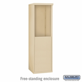 Salsbury Free-Standing Enclosure for 3707 Single Column Unit - Sandstone