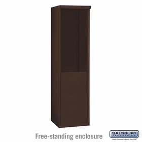 Salsbury 3909S-BRZ Salsbury Free-Standing Enclosure for 3709 Single Column Unit Bronze