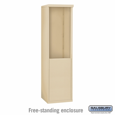 Salsbury Free-Standing Enclosure for 3709 Single Column Unit - Sandstone