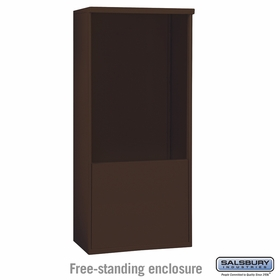 Salsbury 3911D-BRZ Salsbury Free-Standing Enclosure for 3711 Double Column Unit Bronze