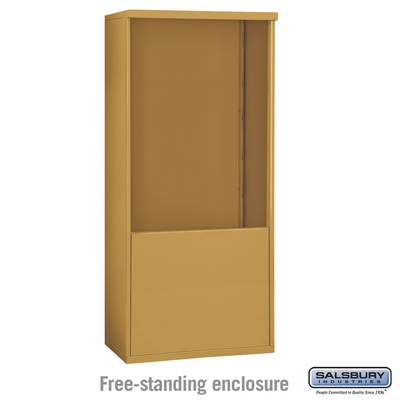 Salsbury 3911D-GLD Salsbury Free-Standing Enclosure - for 3711 Double Column Unit - Gold