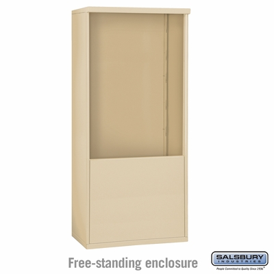 Salsbury Free-Standing Enclosure for 3711 Double Column Unit - Sandstone