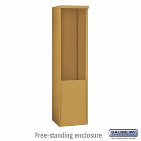 Salsbury 3911S-GLD Salsbury Free-Standing Enclosure - for 3711 Single Column Unit - Gold