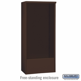 Salsbury 3915D-BRZ Salsbury Free-Standing Enclosure for 3715 Double Column Unit Bronze