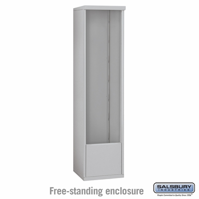 Salsbury Free-Standing Enclosure for 3715 Single Column Unit - Aluminum