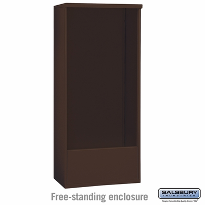 Salsbury 3916D-BRZ Salsbury Free-Standing Enclosure for 3716 Double Column Unit Bronze
